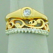 pacifictreasures  R329 ygld  plus R251 diam set wedd